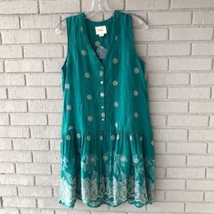NWOT Green Anthropologie Dress In Women's Small